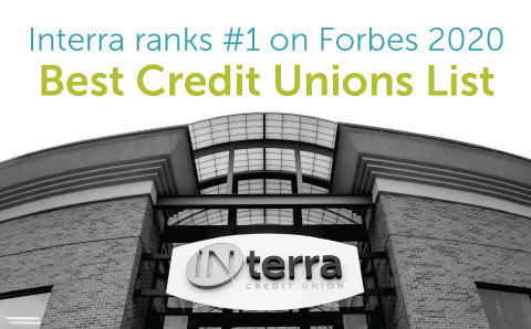 Interra Credit Union Ranks #1 credit union in Indiana in the 2020 Forbes America's Best-In-State Banks & Credit Unions