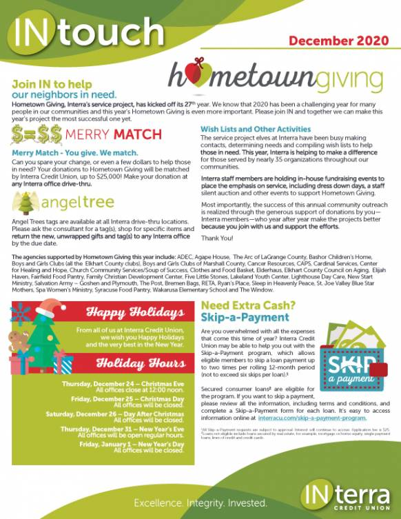 Monthly Newsletter December 2020 FRONT smallthumb